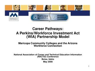 Career Pathways: A Perkins/Workforce Investment Act (WIA) Partnership Model
