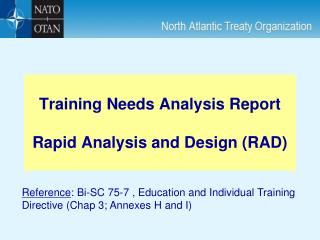 Training Needs Analysis Report Rapid Analysis and Design (RAD)