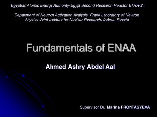 Fundamentals of ENAA