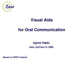 Visual Aids for Oral Communication