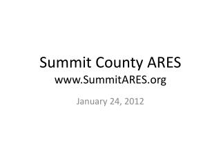 Summit County ARES SummitARES