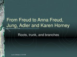 From Freud to Anna Freud, Jung, Adler and Karen Horney