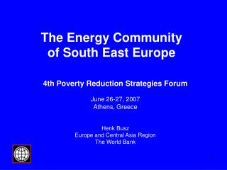 The Energy Community  of South East Europe