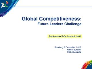 G lobal Competitiveness : Future Leaders Challenge