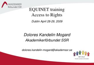 EQUINET training  Access to Rights