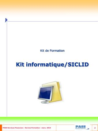 Kit de Formation Kit informatique/SICLID