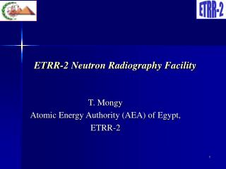 ETRR-2 Neutron Radiography Facility