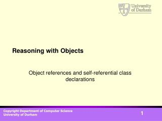 Reasoning with Objects