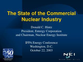 The State of the Commercial Nuclear Industry