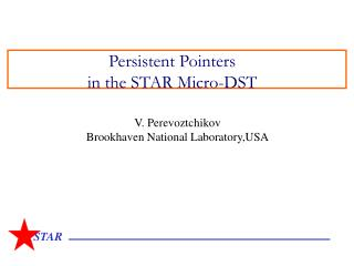 Persistent Pointers in the STAR Micro-DST