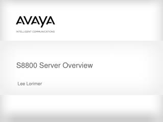 S8800 Server Overview