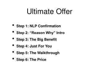 Ultimate Offer