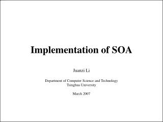 Implementation of SOA