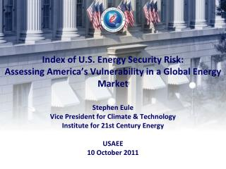 "Energy Security: 4 Decades of ""It's a Problem"""