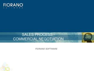 SALES PROCESS -  COMMERCIAL NEGOTIATION