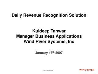 January 17 th 2007