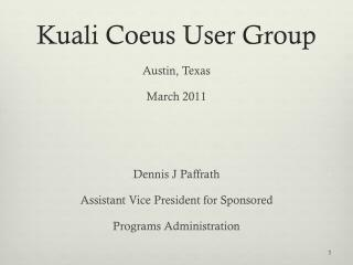 Kuali Coeus User Group