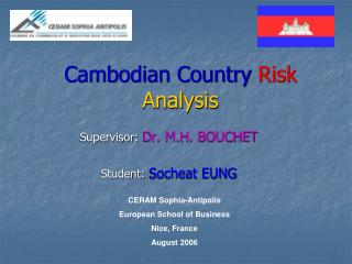 Cambodian Country Risk Analysis