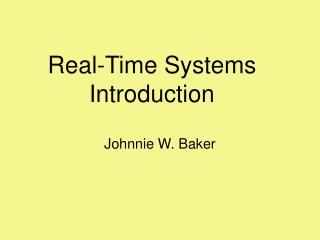 Real-Time Systems Introduction