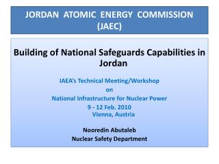 JORDAN  ATOMIC  ENERGY  COMMISSION JAEC