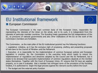 EU Institutional framework