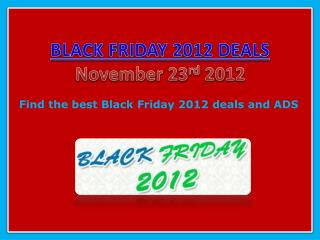 Black Friday 2012 Deals