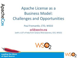 Apache License as a  Business Model: Challenges and Opportunities