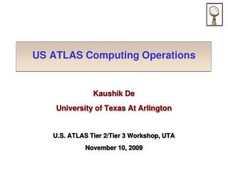 US ATLAS Computing Operations
