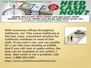 title loans on cars