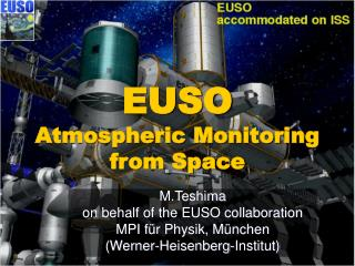 EUSO Atmospheric Monitoring  from Space