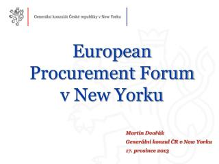 European Procurement Forum v New Yorku
