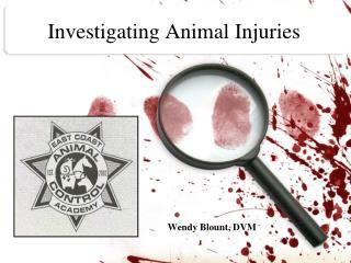 Investigating Animal Injuries