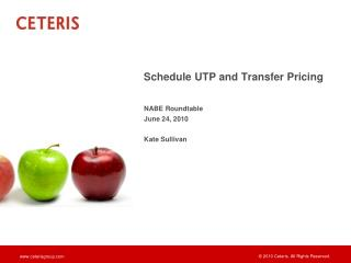 Schedule UTP and Transfer Pricing