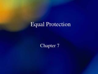 Equal Protection
