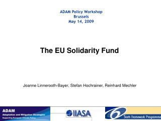 The EU Solidarity Fund