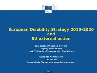 European Disability Strategy 2010-2020 and EU external action