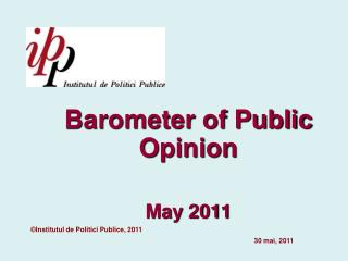 Barometer of Public Opinion Ma y 201 1
