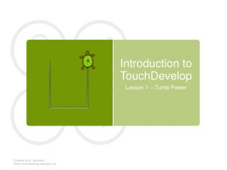 Introduction to  TouchDevelop