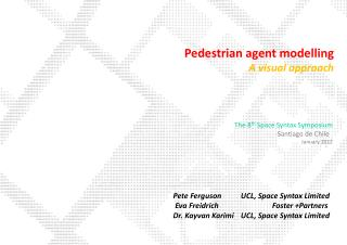 Pedestrian agent modelling A visual approach