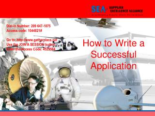 How to Write a Successful Application