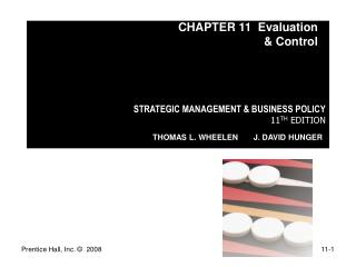 STRATEGIC MANAGEMENT & BUSINESS POLICY 11 TH  EDITION