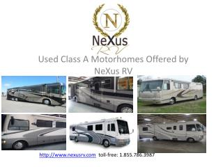 Used Class A Motorhomes from NeXus RV
