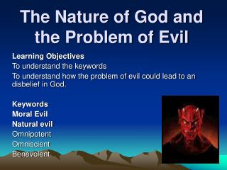 The Nature of God and the Problem of Evil