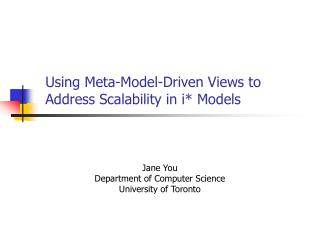 Using Meta-Model-Driven Views to Address Scalability in i* Models