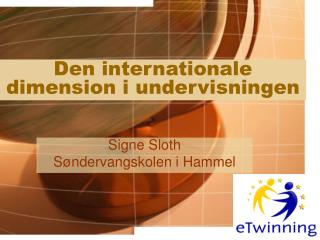 Den internationale dimension i undervisningen