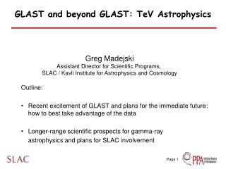 GLAST and beyond GLAST: TeV Astrophysics