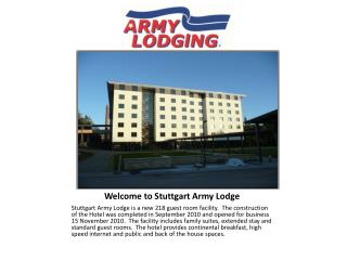 Welcome to Stuttgart Army Lodge