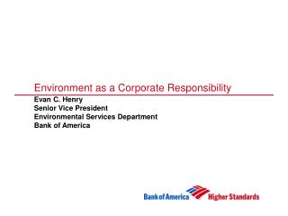 Environment as a Corporate Responsibility