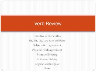 Verb Review