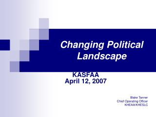Changing Political Landscape